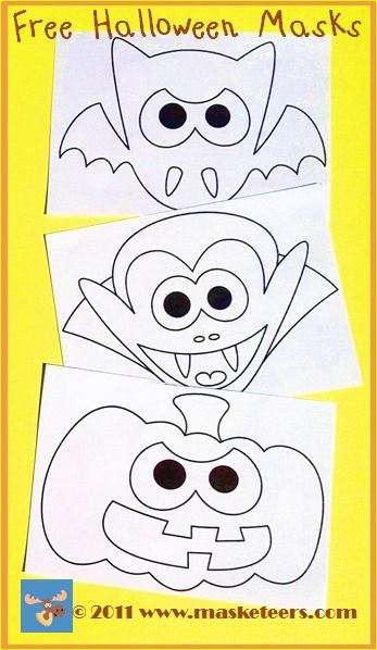 image relating to Free Printable Halloween Masks titled Totally free Printable Halloween Masks for little ones Pin and print