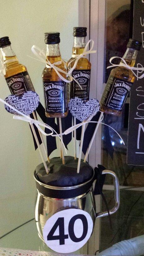 Jack Daniels  40 th birthday bouquet