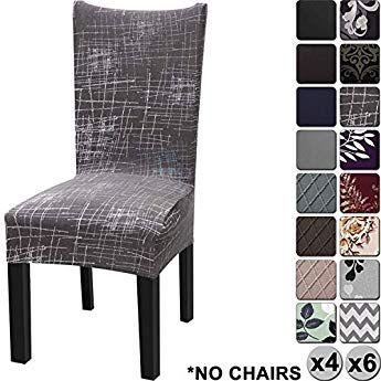 Pleasing Yisun Modern Stretch Dining Chair Covers Removable Washable Squirreltailoven Fun Painted Chair Ideas Images Squirreltailovenorg