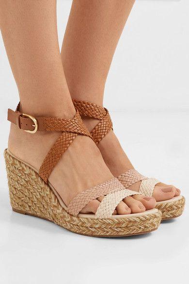 1d79c42f7421c Stuart Weitzman   Elsie woven leather espadrille wedge sandals    NET-A-PORTER.COM