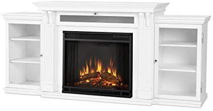 Amazon Com Real Flame Calie Electric Fireplace In White Home