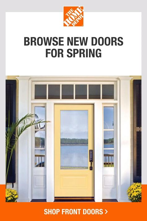Bring on a front door refresh with help from The Home Depot. Explore our products and ideas to get inspired for your favorite Spring projects. Find the perfect front door that matches your style and enhances your home's curb appeal. Tap to browse everything you need to complete your Spring projects at The Home Depot.​