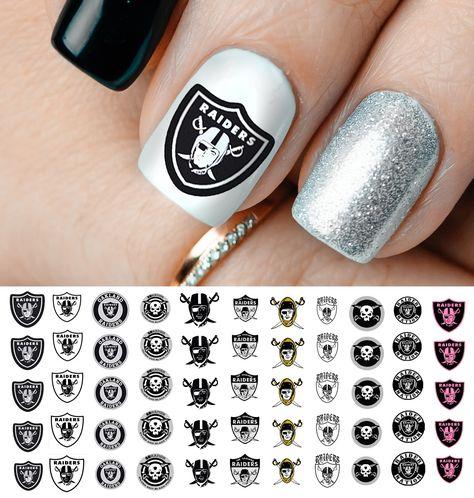 Oakland Raiders Football Nail Art Decals