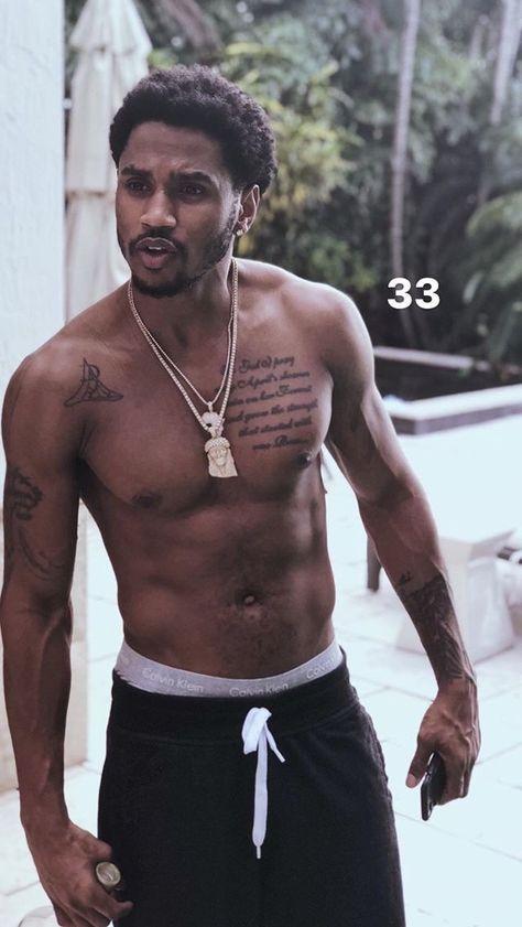 💙 for more pins ' Cute Black Guys, Gorgeous Black Men, Black Boys, Beautiful Men, Fine Black Men, Handsome Black Men, Fine Men, Trey Songz, Fine Boys