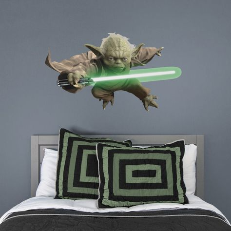 Yoda - Officially Licensed Removable Wall Decal Life-Size Character + 5 Decals (45
