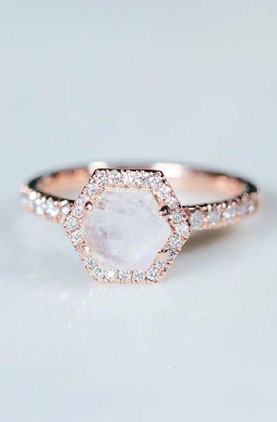 Weddingrings Weddingringsvintage Weddingringssimple Weddingringsprincesscut Weddingrin Moonstone Engagement Ring Rose Engagement Ring Moonstone Engagement