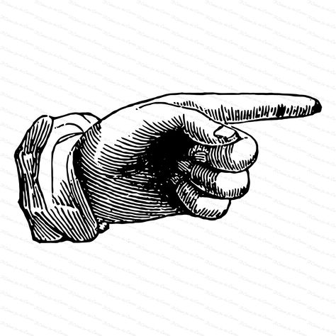 Vintage Victorian Hand With Pointing Finger 1870s Antique Hand Vector Clipart Instant Digital Download Svg Png Jpg In 2021 Pointing Fingers Pointing Hand How To Draw Fingers