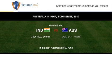India Beat Australia By 50 Runs In The Second Odi At The Eden