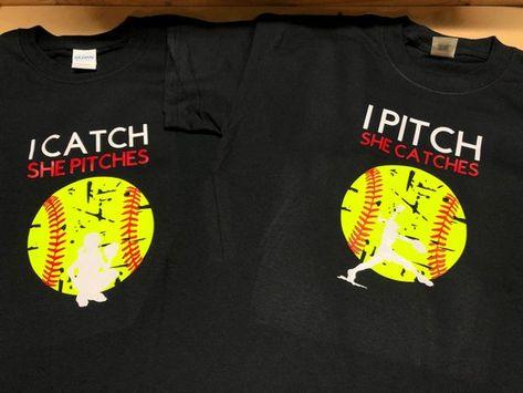 Softball Shirt, Softball Pitcher, Softball Catcher and Softball Fielder Shirts Softball Gear, Softball Memes, Softball Workouts, Softball Cheers, Softball Crafts, Softball Bows, Girls Softball, Softball Players, Fastpitch Softball