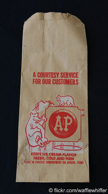 Vintage A/&P Logo Advertising Patch Badge Name Tag Grocery Store Supermarket Food
