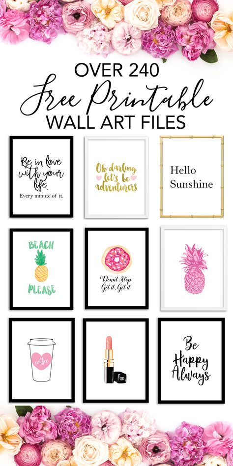 Free Printable Wall Art - Choose from over 240 Printable Art Prints to print for home decor, office decor, bedroom decor etc. #freeprintables #printablewallart #freeprintablewallart #homedecor #officedecor