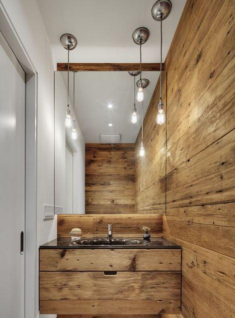 Holz Interior Furs Badezimmer Badezimmer Rustikal Waschtisch
