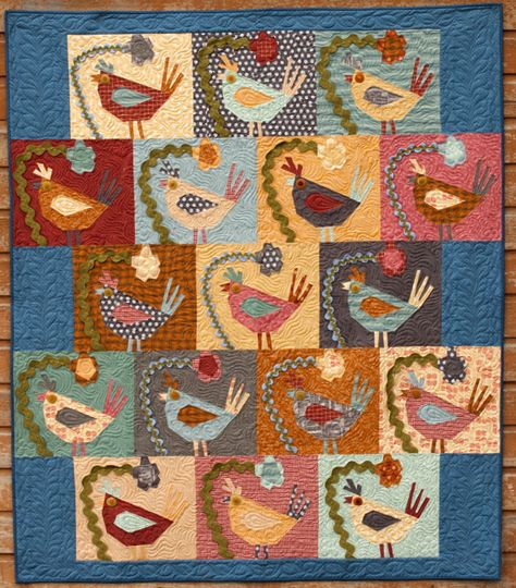 """""""Bird Brain"""" by The Buggy Barn. I have made a quilt by the Buggy Barn-love them!"""