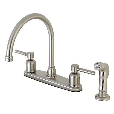 Kingston Brass Modern 2 Handle High Arc Standard Kitchen Faucet