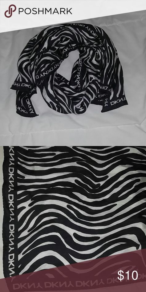 5f72c9e8aab5a Authentic DKNY Black and White scarf Excellent condition