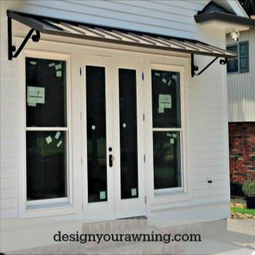 Beautiful Door Awnings In 2020 Awning Over Door Custom Awnings House With Porch