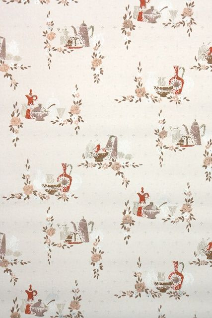 Vintage Wallpaper Available For Purchase On Ebay From Hannah S Treasures Vintage Wallpaper Collection 1950s Mi Vintage Wallpaper Wallpaper Wallpapers Vintage