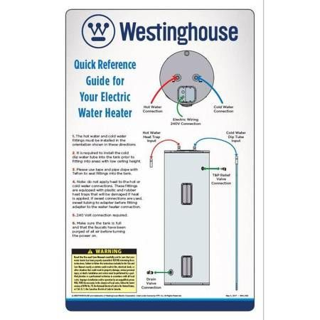 Limited Lifetime Warranty Resists Corrosion 5500 Watt 240 Volt 98 Thermal Efficiency Recovery At 90f Is 25 Gp Water Heater Westinghouse Electric Water Heater