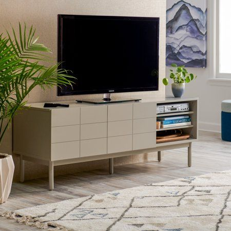 Modrn Scandinavian Link Two Door Tv Stand For Tvs Up To 60 Walmart Com Living Room Tv Living Room Tv Cabinet Tv Cabinet Design