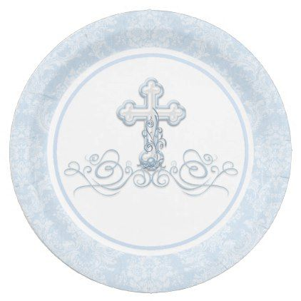Boy Baptism Paper Plates - boy gifts gift ideas diy unique  sc 1 st  Pinterest & Boy Baptism Paper Plates - boy gifts gift ideas diy unique | boy ...