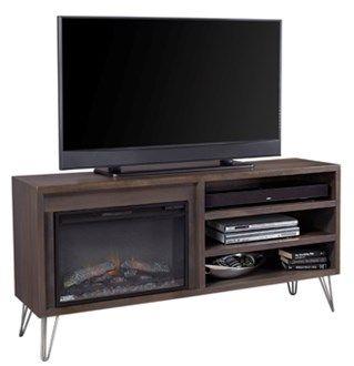 buy popular 214d2 de5dd Aspen mid century modern tv console with electric fireplace ...