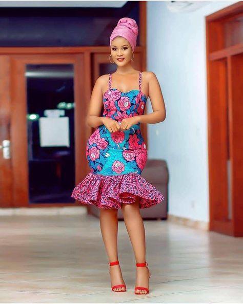 40 Ankara Short Gown Styles Designs 2019 (Updated Weekly) | Thrive Naija