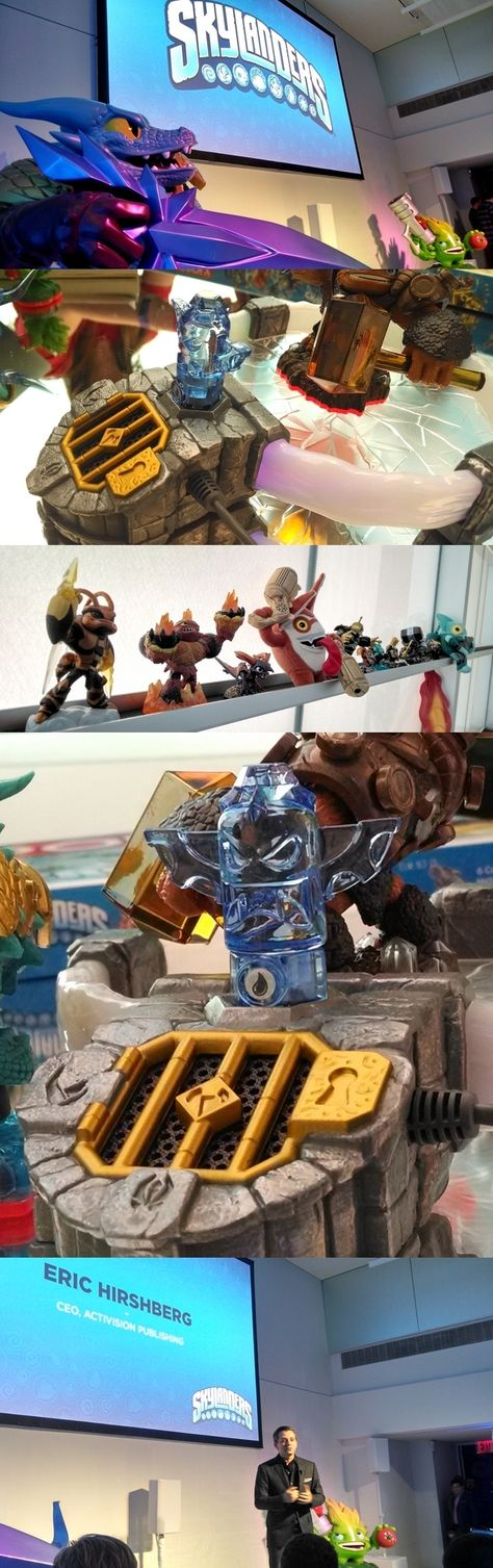 """It's a trap! Activision's new Skylanders Trap Team lets players capture villain characters and turn them—with all malevolent powers intact—into playable good guys. Skylanders video games use real toy characters which get absorbed into the game when placed on an electronic pad. Villains are trapped in """"Traptanium"""" crystals which can be removed until needed. Trap Team (order now, ready Oct. 5) supports Microsoft's Xbox 360 and Xbox One and Nintendo's PlayStation 3, 4, Wii, Wii U and 3DS."""