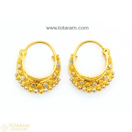 d25623804 22K Gold Hoop Earrings (Ear Bali) - 235-GER9729 - Buy this Latest Indian  Gold Jewelry Design in 4.600 Grams for a low price of $325.80