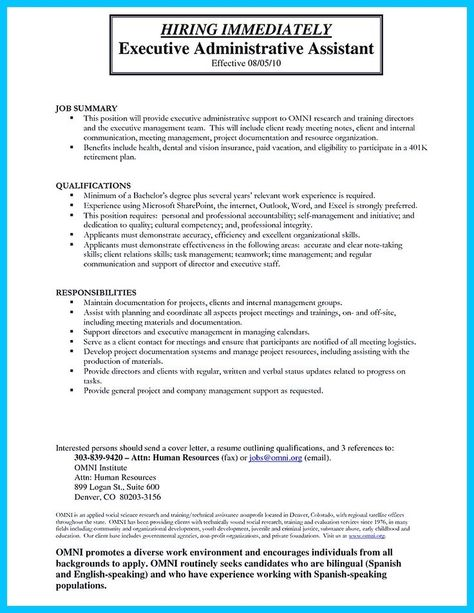 Sample Tax Assistant Cover Letter will help you create your own - administrative assistant responsibilities