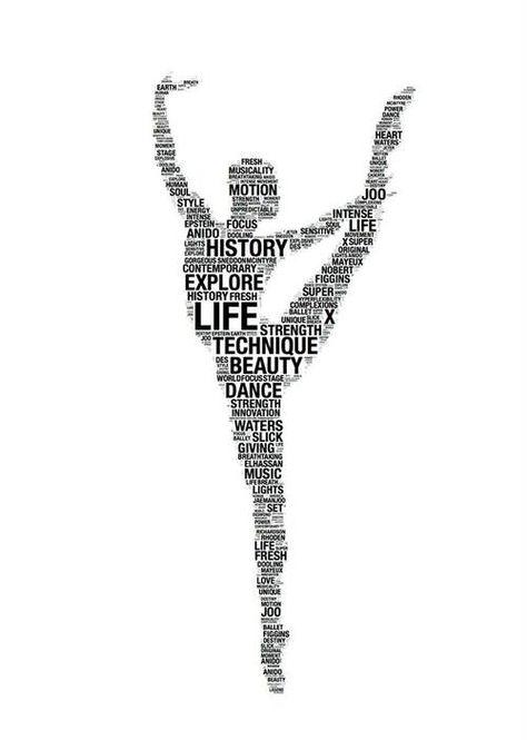 Figura de baile femenina formada por palabras clave