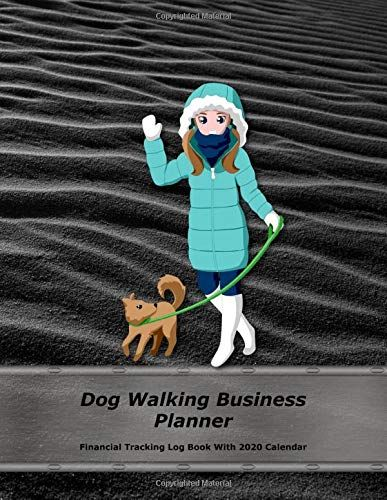 Dog Walking Business Planner Black Cover Financial Tra