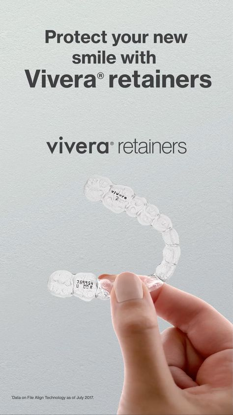 Vivera® retainers, from the makers of Invisalign® aligners, are 30% stronger and 2x more durable than other clear retainers*. Book an appointment today.