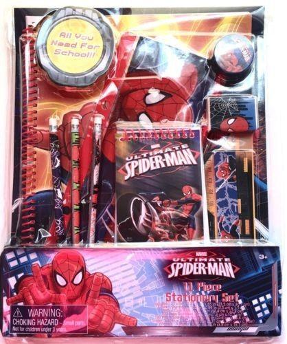 Marvel Ultimate Spider Man 11 Piece Stationery Set Back To School Pencils Eraser Marvel Ultimate Spider Man Ultimate Spiderman Spiderman