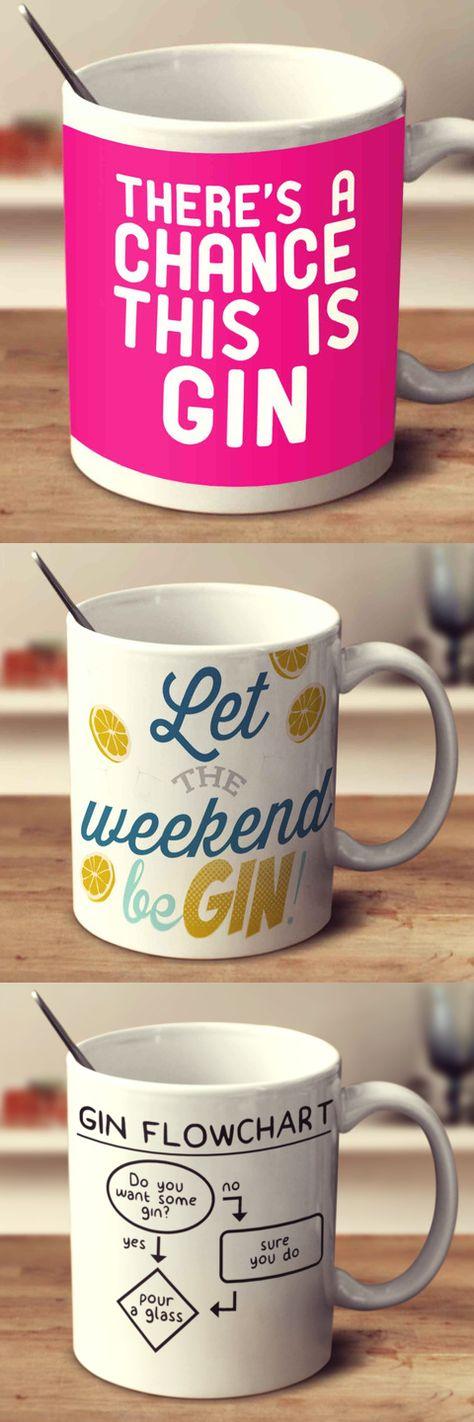 Funny Gin Mugs