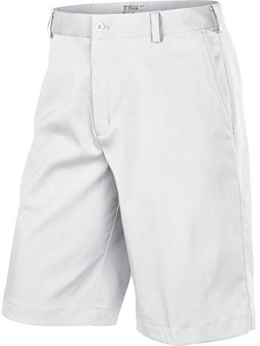 Nike Men's Flat Front Tech Golf Shorts (40, White)