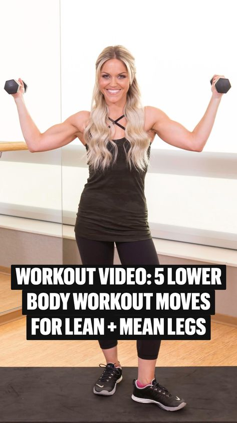 WORKOUT VIDEO: 5 lower body workout moves for lean + mean legs