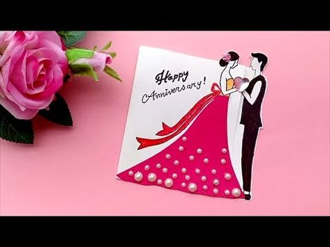A Beautiful Anniversary Card Idea How To Make Anniversary Card At Home Youtube Anniversary Cards Handmade Anniversary Card For Parents Anniversary Cards
