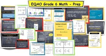 Eqao Grade 6 Math Prep 109 Pages Concepts Covered This Pack Includes Review Of Following Concepts Addition Subtraction Mu Grade 6 Math Math Prep Math