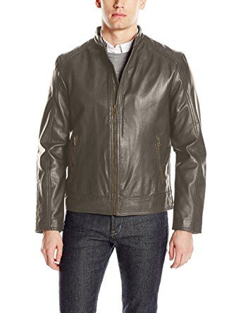 Tommy Hilfiger Mens Big and Tall Smooth Faux Leather Bomber Jacket with Double Hood