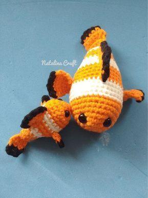 Crochet Fish Amigurumi Baby Clownfish Animales Tejidos