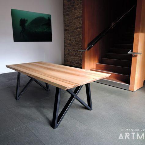 Table Gentleman En 2019 Pietement Table Table En Acier Et