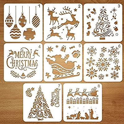 Christmas bauble stencil for art craft window display decoration paint Stencils