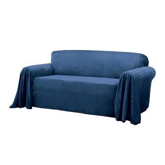 Sure Fit Furniture Flair Flash Box Cushion Loveseat Slipcover Wayfair Slipcovers Loveseat Slipcovers Fitted Furniture