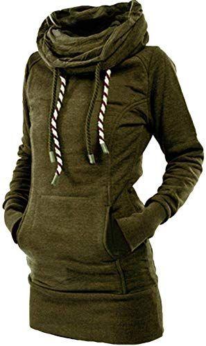 etuoji Women Casual Sweatshirt Long Sleeve Hooded Drawstring Pullover Fashion Hoodies