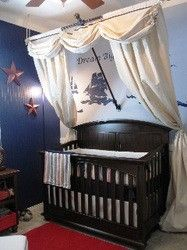 Nautical themed nursery......Yarrrrr..... I WANT THIS..... if/when i have another baby.  so cute!