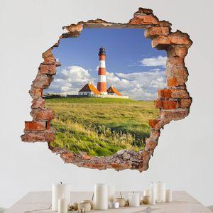 3d Wandtattoo Leuchtturm In Schleswig Holstein Quadrat 1 1 3d Wandtattoo Leuchtturm Wandtattoo Selbst Gestalten