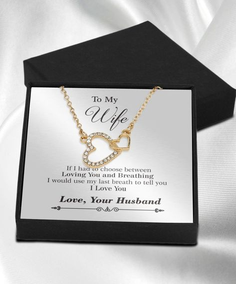 To My Wife Necklace Gift