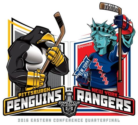 2016 East Qtrs. @NHL @NHLonNBCSports #StanleyCupPlayoffs #StanleyCup #PITvsNYR #EPoole88