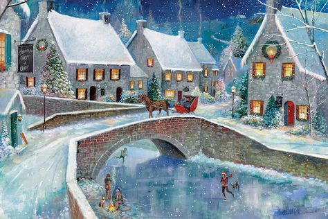 Warm Winter Wonderland Canvas Wall Art By Ruane Manning Icanvas Parvez Taj Farm Canvas Art Holiday Canvas
