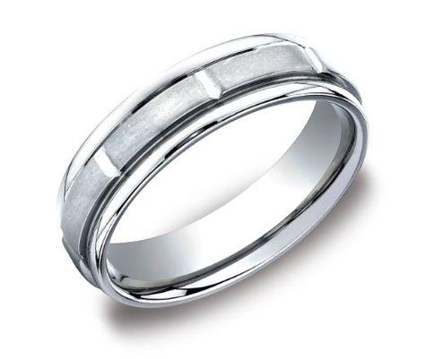 Titanium 6mm Satin Mens Wedding Ring Band Size 12.5
